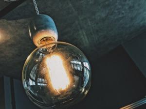 大理石 ヴィンテージバルブ 照明