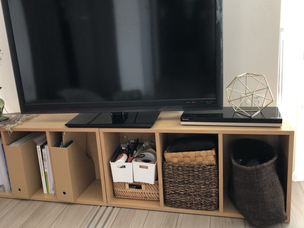 カラーボックスをテレビボードへDIY