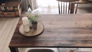 高崎市の家具屋の無垢材テーブル